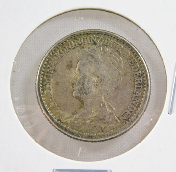 1918 Netherlands Silver 25 Cents