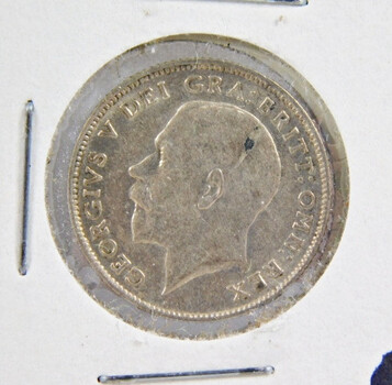 1921 Great Britain Silver 6 Pence High Grade