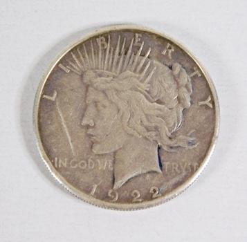 1922-S Peace Silver Dollar*Rim Ding*90% Silver