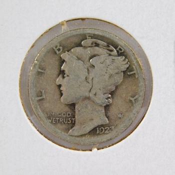 1923 Mercury Silver Dime Better Grade
