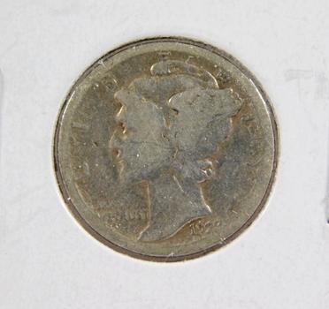 1923-S Mercury Silver Dime Better Grade