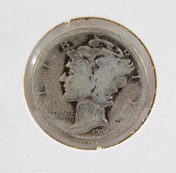 1924 Mercury Silver Dime Better Grade
