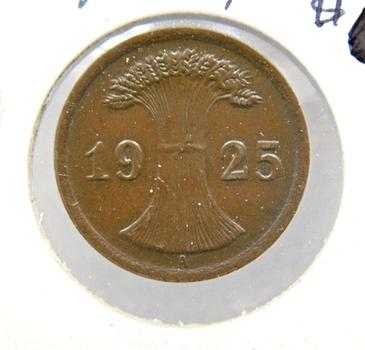 1925A Germany 2 Reichspfennig*Nice Detail