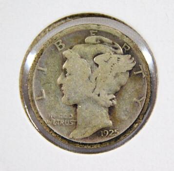 1925-D Mercury Silver Dime Better Grade