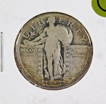 1926 Silver Standing Liberty Quarter Better Grade