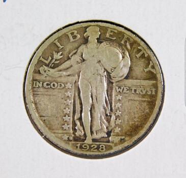 1928-S Silver Standing Liberty Quarter Better Grade
