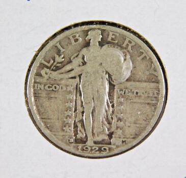 1929-S Silver Standing Liberty Quarter Better Grade