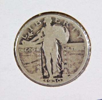 1930 Silver Standing Liberty Quarter High Grade