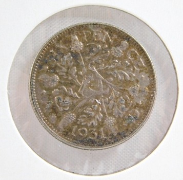 1931 Great Britain Silver 6 Pence