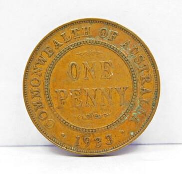 1933 Australia Penny High Grade
