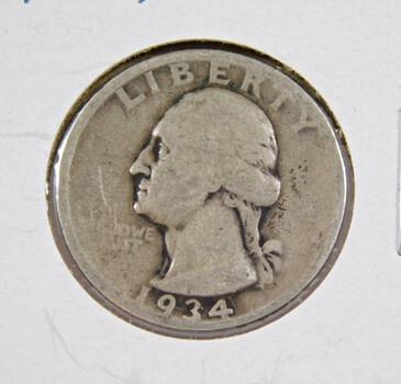 1934 Silver Washington Quarter