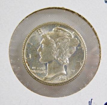 1935 Brilliant Uncirculated Silver Mercury Dime - Excellent Detail and Luster
