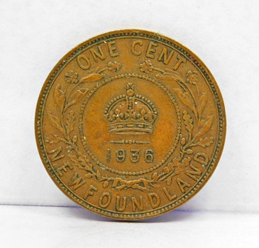 1936 New Foundland Province Canada One Cent
