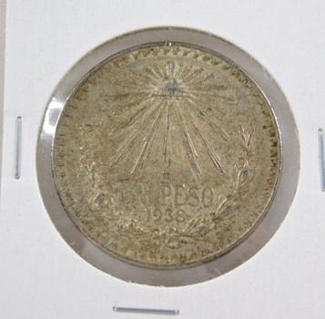 1938M Mexico Silver 1 Peso