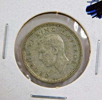 1939 New Zealand Silver 3 Pence - High Grade