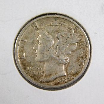 1939-D American Silver Mercury Dime High Grade