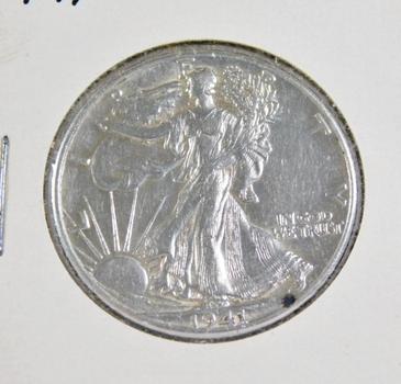 1941 Silver Walking Liberty Half Dollar - High Grade