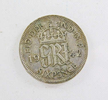 1942 Great Britain Silver 6 Pence*Nice Detail