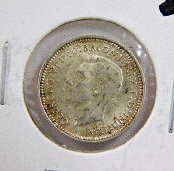 1942D Australia Silver 3 Pence - High Grade