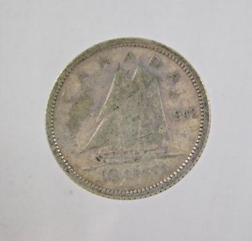 1943 Canada Silver 10 Cents