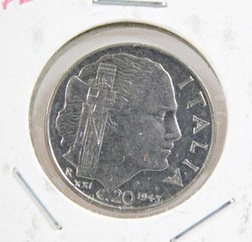 1943 Italy 20 Centesimi - Uncirculated