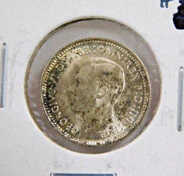 1943D Australia Silver 3 Pence - High Grade