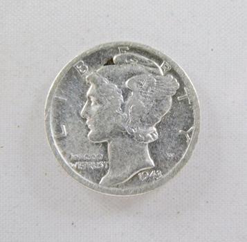 1943-D Silver Mercury Dime