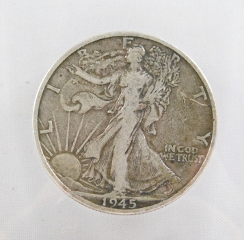 1945-S Walking Liberty Silver Half Dollar - San Francisco Minted
