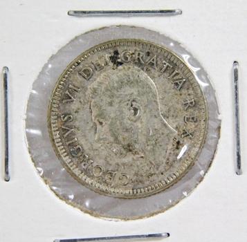 1950 Canada Silver Dime High Grade