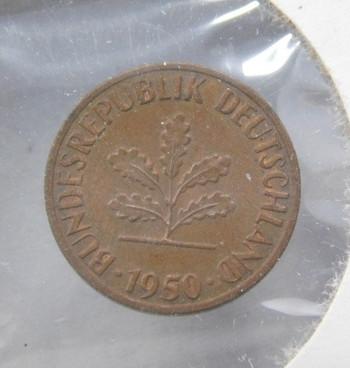 1950F Germany 1 Pfennig