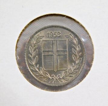 1953 Iceland 10 Aurar High Grade