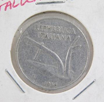 1956 Italy 10 Lire - Nice Detail