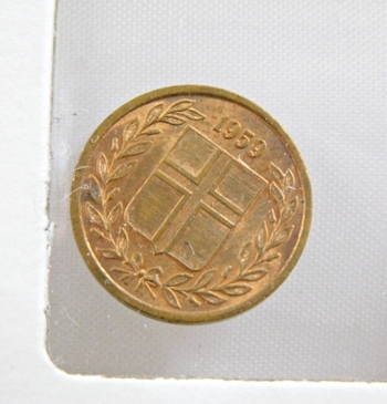 1959 Iceland 1 Eyrir - Uncirculated