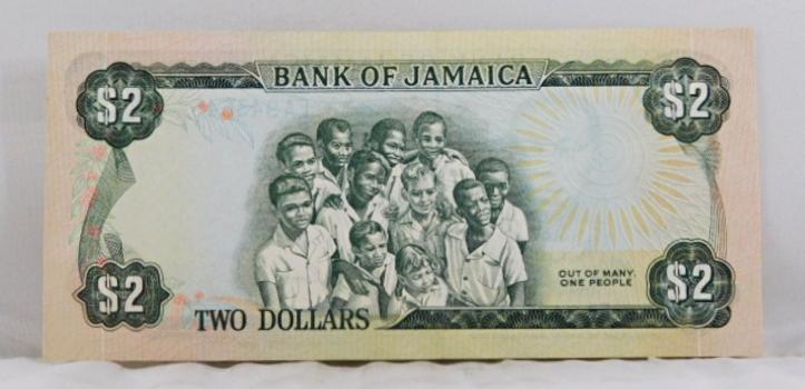 1960 Bank of Jamaica $2 Note*Nice Crisp Note