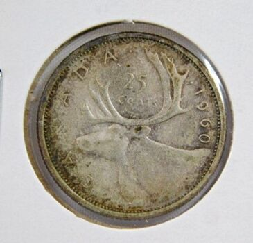 1960 Canada Silver 25 Cents