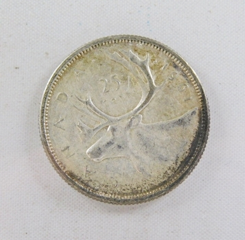 1961 Canada Silver 25 Cents