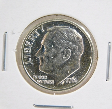 1961 Proof Silver Roosevelt Dime - Excellent Detail and DCAM