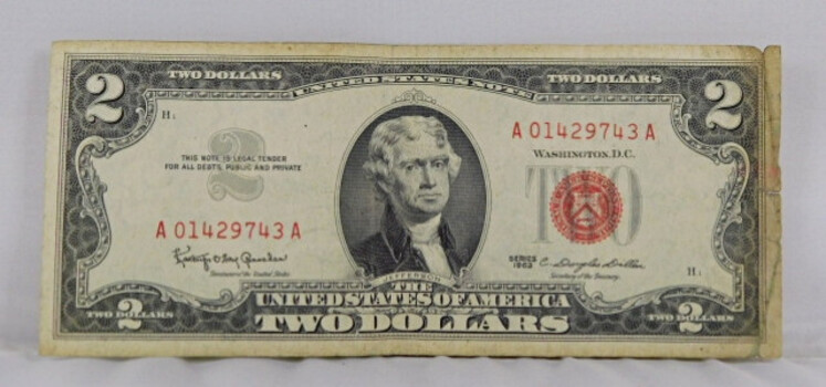1963 Series American 5 Dollar Red Seal Crisp Note Great Condition