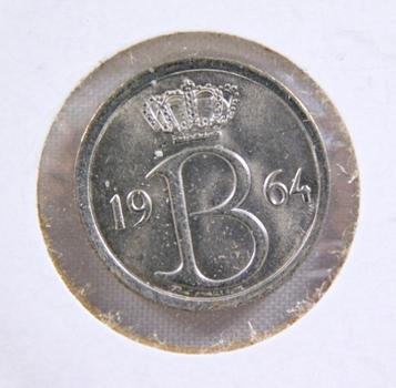 1964 Belgium 25 Centimes - High Grade