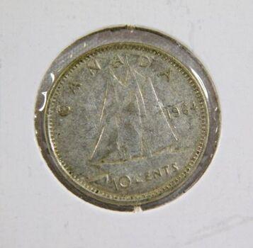 1964 Canada Silver 10 Cents