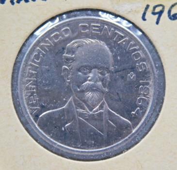 1964 Mexico 25 Centavos - High Grade