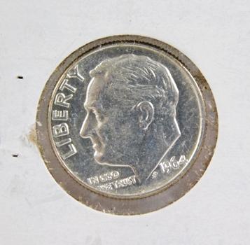 1964-D Silver Roosevelt Dime High Grade