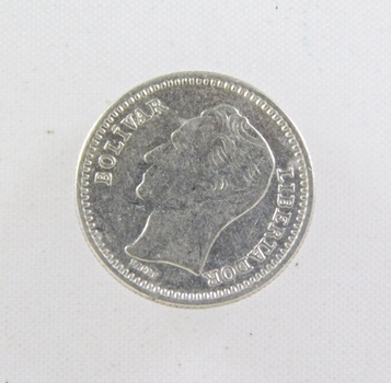 1965 Venezula Silver 25 Centimos
