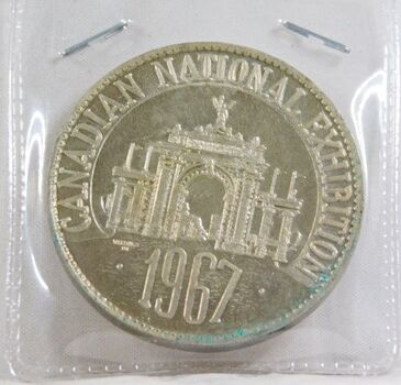 1967 Medallion Celebrating the centennial of Canada*Canadian National Exhibition