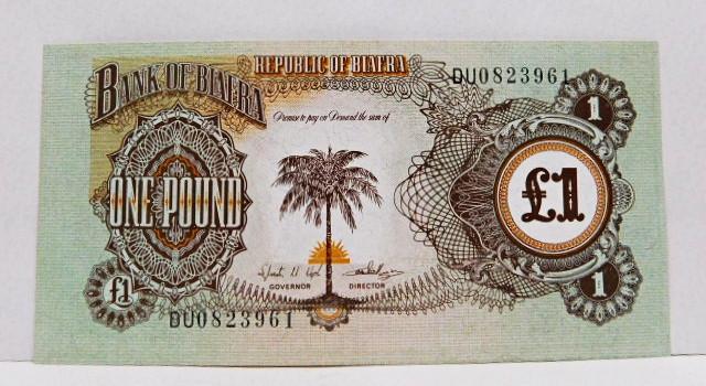 1968 Biafra 1 Pound Bank Note Crisp Uncirculated