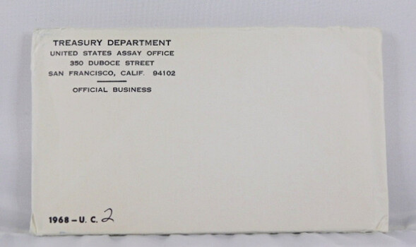 1968 Mint Set In Original Envelope 10 Coins Silver Half Dollar