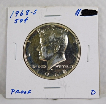 1968-S American Proof Silver Kennedy Half Dollar High Grade