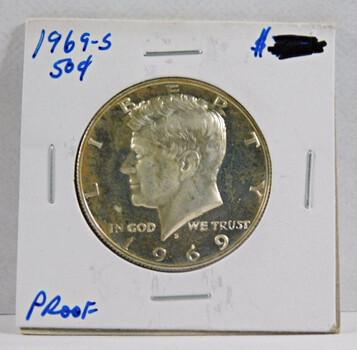 1969-S American Silver Kennedy Half Dollar