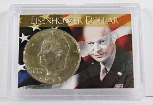 """1971-D Eisenhower """"IKE"""" Dollar*High Grade in Protective Custom Holder"""