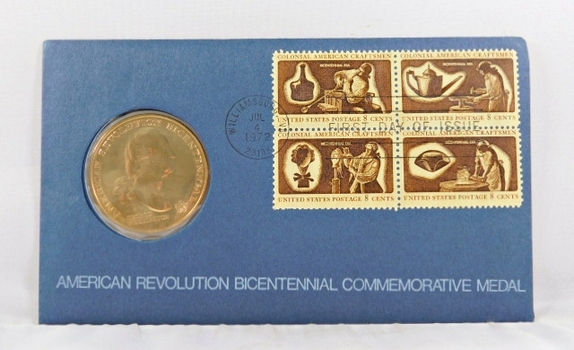1972 American Revolution Bicentennial Commemorative Medal and FDC